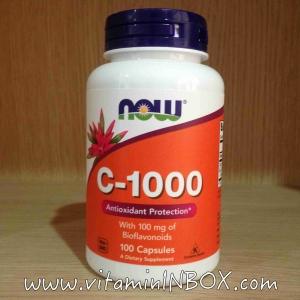 # วิตามิน C #Now Foods, C-1000, with Bioflavonoids 100 Capsules