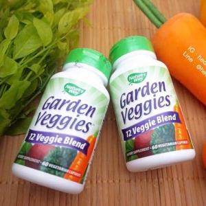 # ยกผักมาทั้งสวน # Nature's Way, Garden Veggies, 60 Vcaps