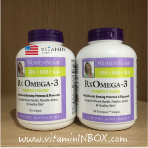 # บำรุงสมอง # Natural Factors, WomenSense, RxOmega-3, Women's Blend, 120 Softgels