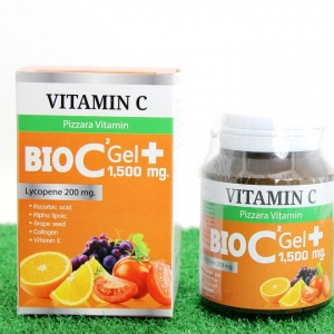 Pizzara BIO C Gel Plus 1,500 mg. วิตามิน ไบโอ ซี เจล พลัส 1500 มิลลิกร้ม