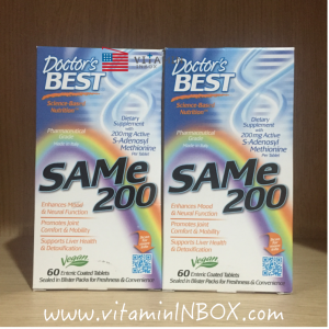 # หงุดหงิดง่าย # Doctor's Best, SAMe 200, 60 Enteric Coated Tablets