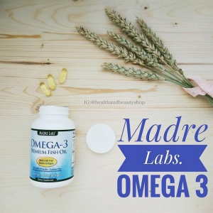 Madre Labs, Omega-3 Premium Fish Oil, 1000 mg, 100 Softgels
