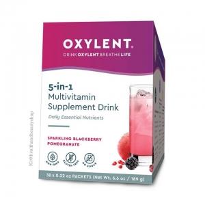 # แบบซอง # Vitalah, Oxylent, Multivitamin Supplement Drink, Sparkling Blackberry Pomegranate, 30 Packets, 0.22 oz (6.2 g) Each