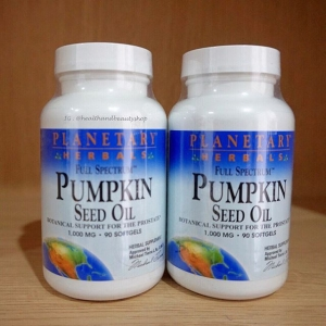 # เสริมผิวและลดน้ำหนัก # Planetary Herbals, Full Spectrum, Pumpkin Seed Oil, 1,000 mg, 90 Softgels
