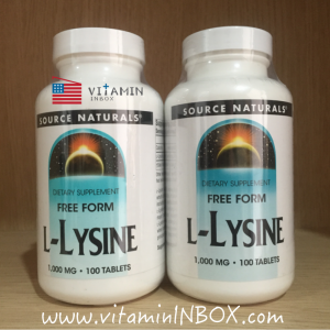 Source Naturals, L-Lysine, 1,000 mg, 100 Tablets