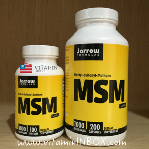 Jarrow Formulas, MSM, Methyl-Sulfonyl-Methane, 1000 mg, 200 Capsules