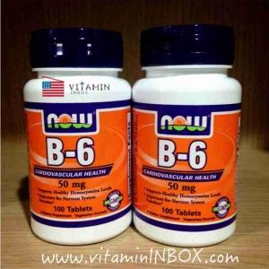 # น้ำมูกไหลตอนตื่นนอน # Now Foods, B-6, 50 mg, 100 Tablets