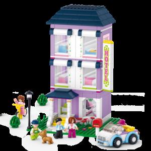 ร้านค้า (Shop) S-0531. ตัวต่อเลโก้จีน บ้านสามชั้นสีม่วง