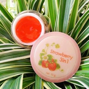 Strawberry 3in1 Day White Serum เซรั่มสตอเบอร์รี่ สูตรเร่งด่วน ขาว ใส ลดสิว ฝ้า ขนาด 10 กรัม