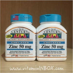 21st Century Health Care, Zinc, 50 mg, 110 Tablets