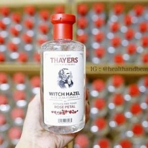 #สิวอุดตัน # Thayers, Rose Petal Witch Hazel, with Aloe Vera Formula, Alcohol-Free Toner, 12 fl oz (355 ml)