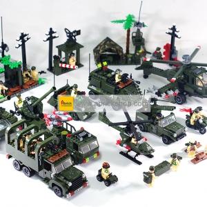 ทหาร (Soldier) E-set 4. ตัวต่อเลโก้จีน กองพัน (ชุด 8 กล่อง)