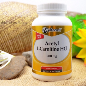 Vitacost Acetyl L-Carnitine HCl -- 500 mg - 120 Capsules