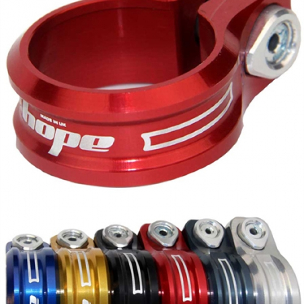 Red 34.9mm Hope Bolt Seat Clamp