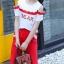 เสื้อ+กางเกง สีแดง แพ็ค 6 ชุด ไซส์ 110-120-130-140-150-160 (เลือกไซส์ได้) thumbnail 6