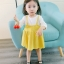 ชุดเดรสแขนยาวกระโปรงสีเหลือง [size 6m-1y-18m-2y-3y] thumbnail 3