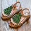 รองเท้าเด็กแฟชั่น สีเขียว แพ็ค 5 คู่ ไซต์ 21-22-23-24-25 thumbnail 1