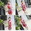 ชุดกี่เพ้าสีแดงลายนกยูง [size 2y-3y-4y-5y-6y-7y] thumbnail 2