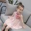 ชุดเดรสคอจีนสีชมพูลายดอกไม้ แพ็ค 2 ชุด [size 5y-6y] thumbnail 1