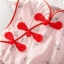 ชุดเดรสคอจีนสีชมพูลายดอกไม้ แพ็ค 2 ชุด [size 5y-6y] thumbnail 7