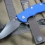 "RHK XM18 3.5"" Bowie Battle Black Blade Blue G-10"