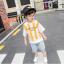 เสื้อ+กางเกง สีเหลือง แพ็ค 5 ชุด ไซส์ 100-110-120-130-140 (เลือกไซส์ได้) thumbnail 2