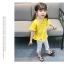 ชุดเซตเสื้อสีเหลือง+กางเกงสีขาว แพ็ค 5 ชุด [size 6m-1y-18m-2y-3y] thumbnail 3