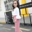 เสื้อ+กางเกง สีชมพู แพ็ค 5 ชุด ไซส์ 120-130-140-150-160 (เลือกไซส์ได้) thumbnail 3