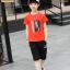 เสื้อ+กางเกง สีแดง แพ็ค 5 ชุด ไซส์ 130-140-150-160-170 (เลือกไซส์ได้) thumbnail 2