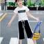 เสื้อ+กางเกง สีดำ แพ็ค 5 ชุด ไซส์ 120-130-140-150-160 (เลือกไซส์ได้) thumbnail 3