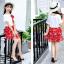 เสื้อ+กระโปรง สีแดง แพ็ค 5 ชุด ไซส์ 120-130-140-150-160 (เลือกไซส์ได้) thumbnail 4