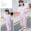 เสื้อ+เอี๊ยมกางเกง สีชมพู แพ็ค 5 ชุด ไซส์ 120-130-140-150-160 (เลือกไซส์ได้) thumbnail 3