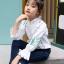 เสื้อ สีขาว แพ็ค 5 ชุด ไซส์ 120-130-140-150-160 (เลือกไซส์ได้) thumbnail 4