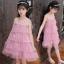 ชุดกระโปรง สีชมพู แพ็ค 5 ชุด ไซส์ 110-120-130-140-150 (เลือกไซส์ได้) thumbnail 2