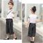 เสื้อ+กางเกง สีขาว แพ็ค 5 ชุด ไซส์ 120-130-140-150-160 (เลือกไซส์ได้) thumbnail 6