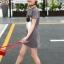 เสื้อ สีเทา แพ็ค 5 ชุด ไซส์ 120-130-140-150-160 (เลือกไซส์ได้) thumbnail 6