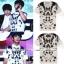 เสื้อยืดสีขาวสกรีนลายจุด แบบ Jungkook thumbnail 1