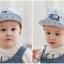หมวกแก๊ปสีฟ้ามีเขาลายสามเหลี่ยม แพ็ค 3 ชิ้น thumbnail 3