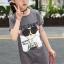 เสื้อ สีเทา แพ็ค 5 ชุด ไซส์ 120-130-140-150-160 (เลือกไซส์ได้) thumbnail 7