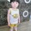 ชุดเซตเสื้อกล้ามลายน้องหมาสีเหลือง แพ็ค 5 ชุด [size 6m-1y-18m-2y-3y] thumbnail 1