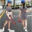 เสื้อ สีเทา แพ็ค 5 ชุด ไซส์ 120-130-140-150-160 (เลือกไซส์ได้) thumbnail 2