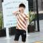 เสื้อ+กางเกง สีช็อคโกแลค แพ็ค 5 ชุด ไซส์ 130-140-150-160-170 (เลือกไซส์ได้) thumbnail 1