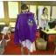 เสื้อฮู้ด (Hoodie) สีม่วง ลายกบ แบบ IU thumbnail 2