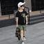 เสื้อ+กางเกง สีดำ แพ็ค 5 ชุด ไซส์ 130-140-150-160-170 (เลือกไซส์ได้) thumbnail 3