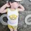 ชุดเซตเสื้อกล้ามลายน้องหมาสีเหลือง แพ็ค 5 ชุด [size 6m-1y-18m-2y-3y] thumbnail 3