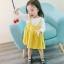 ชุดเดรสแขนยาวกระโปรงสีเหลือง [size 6m-1y-18m-2y-3y] thumbnail 2