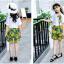 เสื้อ+กระโปรง สีเขียว แพ็ค 5 ชุด ไซส์ 120-130-140-150-160 (เลือกไซส์ได้) thumbnail 4