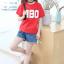 เสื้อ สีแดง แพ็ค 5 ชุด ไซส์ 120-130-140-150-160 (เลือกไซส์ได้) thumbnail 4