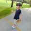 เสื้อตัวยาวสีกรมท่าแต่งหัวใจที่หน้าอก [size 2y-3y-4y-5y-6y] thumbnail 2