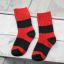 ถุงเท้าสั้น สีแดงดำ แพ็ค 12 คู่ ไซส์ ประมาณ 3-5 ปี thumbnail 3